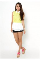 Lanie Yellow Lace Top